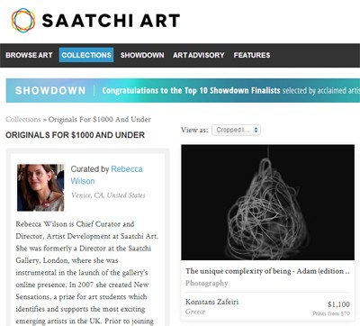 Featured on saatchionline.com by Rebecca Wilson
