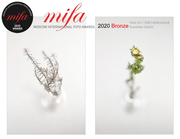 MOSCOW INTERNATIONAL FOTO AWARDS 2020 | 06-2020 2020 Bronze Awarded to: Konstans Zafeiri Title: Botanical - Fine Art-Still Life